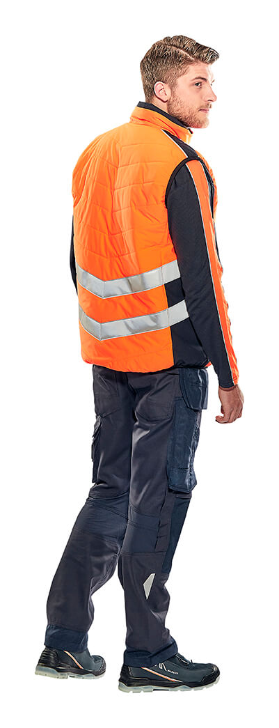 Winterweste, Pullover & Hose mit Knietaschen - Hi-Vis Orange - MASCOT® SAFE SUPREME - Model